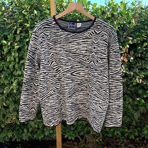 Vintage Sweaters - VTG Zebra Sweater
